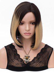 Short Colormix Side Parting Capless Straight Bob Synthetic Wig -