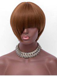 Full Bang Short Asymmetric Straight Synthetic Wig -