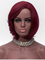 Short Side Parting Synthetic Straight Wig -