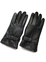 Winter Thick Riding Sheepskin Leather Gloves -