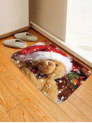 Christmas Bear Pattern Water Absorption Area Rug -