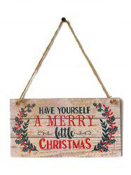 Merry Christmas Sign Wooden Hanging Decoration -
