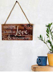 Home Love Wooden Hanging Decoration -
