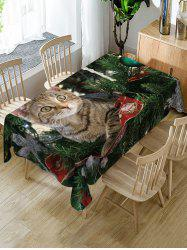 Christmas Cat Print Table Cloth -
