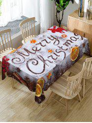 Christmas Snow Letters Lemon Print Table Cloth -