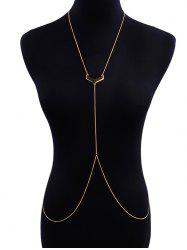 V-shape Geometric Shape Beach Body Chain -