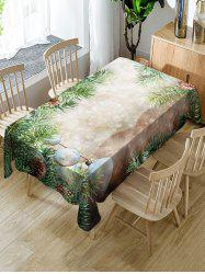 Christmas Tree Baubles Printed Table Cloth -
