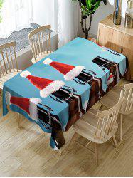 Christmas Caps Print Table Cloth -