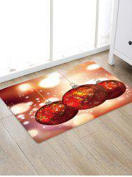 Christmas Ball Pattern Water Absorbing Area Rug -