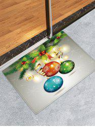 Christmas Cherry Balls Pattern Water Absorption Area Rug -