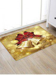 Christmas Bowknot Bells Pattern Water Absorbing Floor Rug -