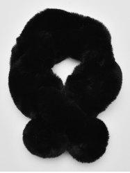 Solid Color Faux Fur Winter Scarf -
