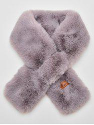 Solid Color Winter Faux Fur Scarf -