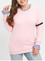 Plus Size Ruffle Trim Long Sleeve Sweatshirt -
