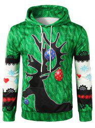 3D Knitting Texture Print Pullover Christmas Hoodie -