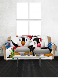 Christmas Penguin Pattern Couch Cover -