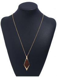Novelty Geometric Shape Wooden Necklace -