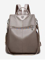 Statement Zipper Design School Backpack -