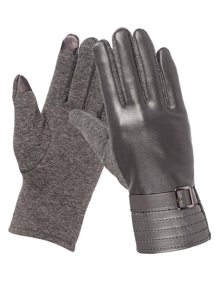 Hot Square Bucket Faux Leather Biker Gloves