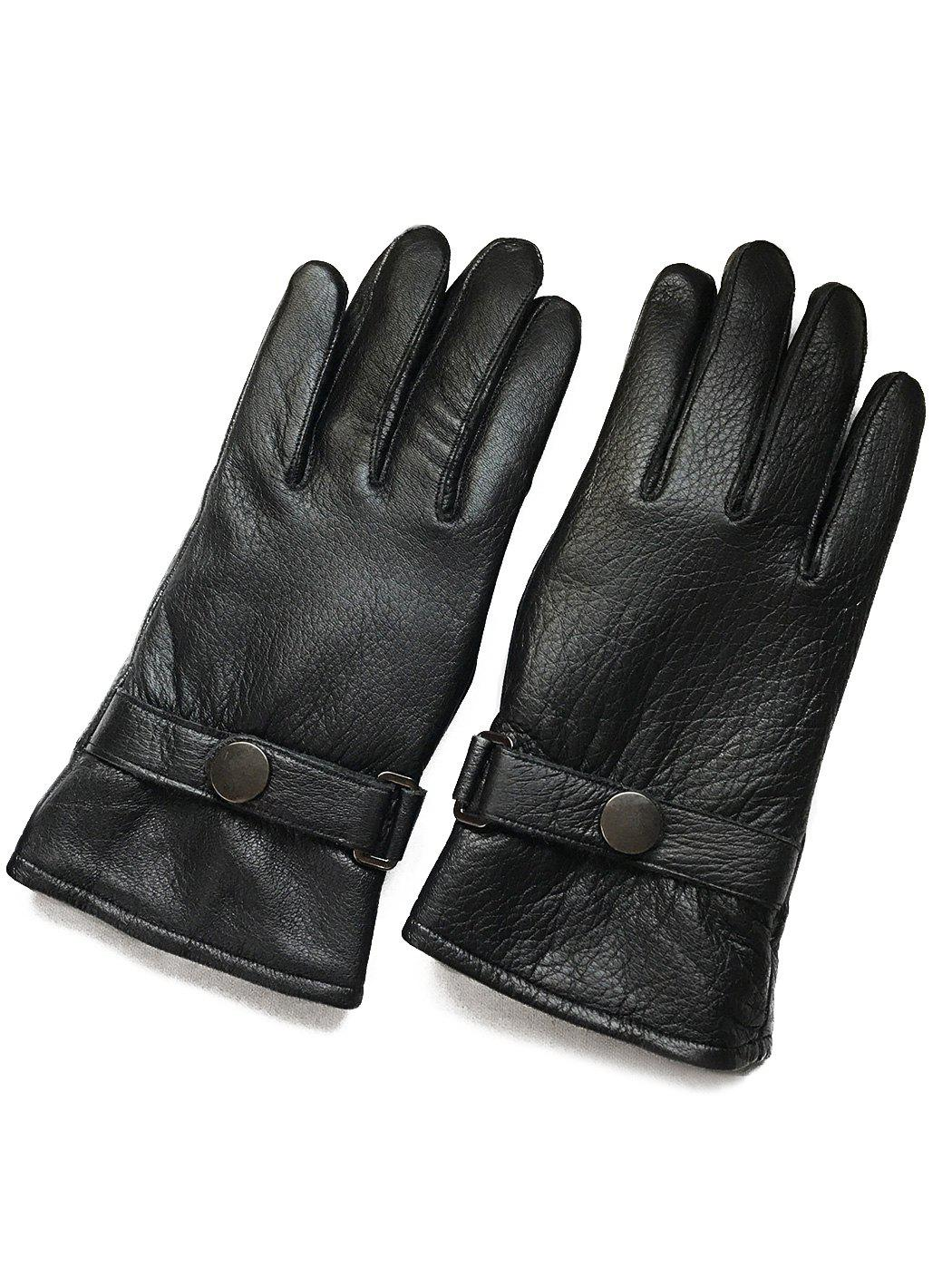 Shops Winter Thick Riding Sheepskin Leather Gloves
