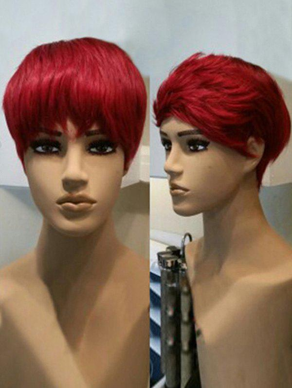 New Short Layer Side Bang Straight Cosplay Synthetic Wig
