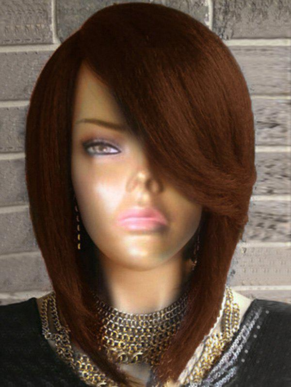 Cheap Short Flip Side Parting Straight Bob Synthetic Wig