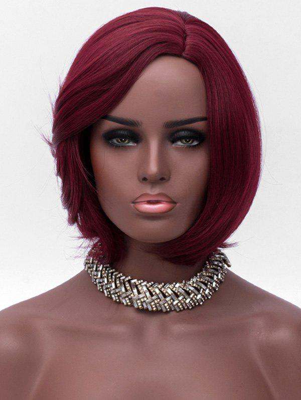 Trendy Short Side Parting Synthetic Straight Wig