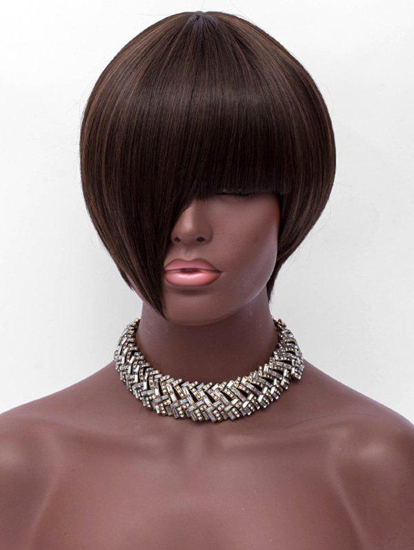 Outfits Full Bang Short Asymmetric Straight Synthetic Wig