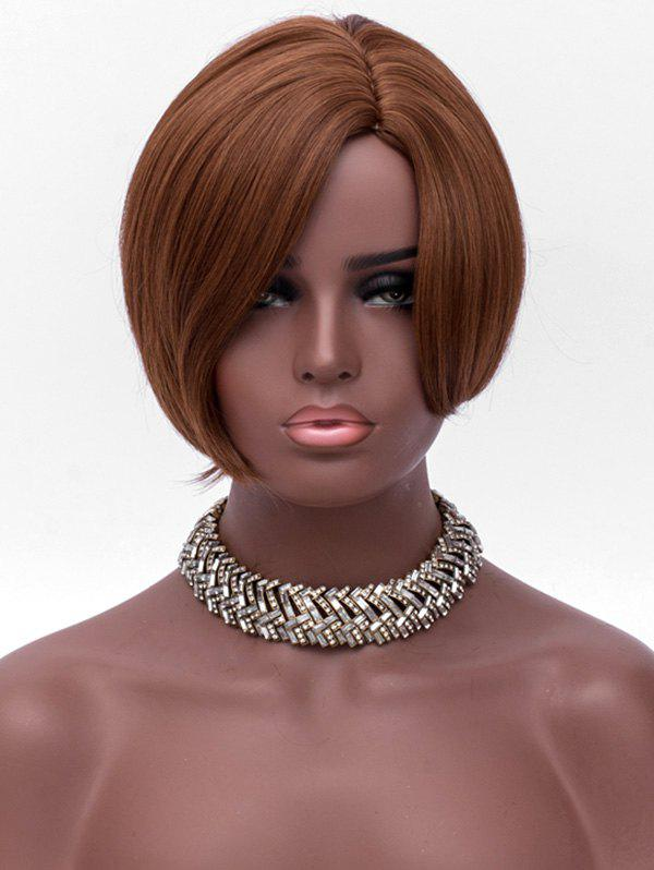 Online Side Parting Synthetic Short Straight Wig