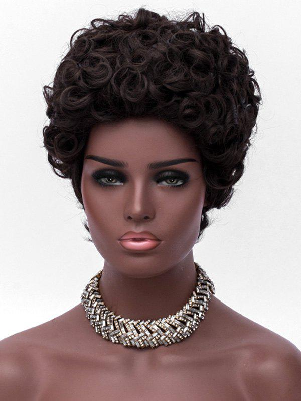 Chic Short Fluffy Curly Layered Synthetic Wig