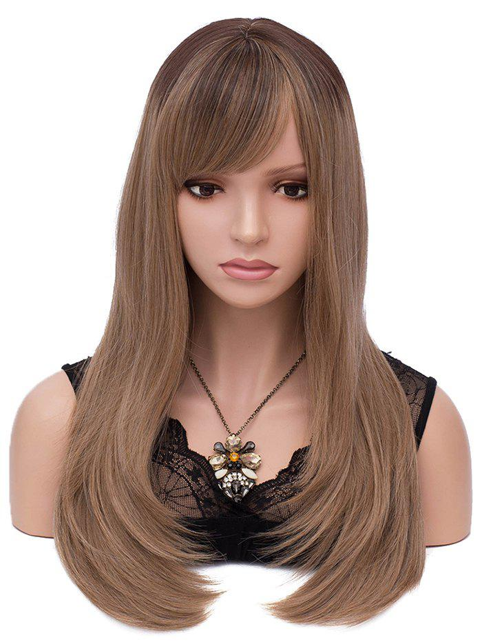 Outfit Long Colormix Oblique Bang Straight Synthetic Wig