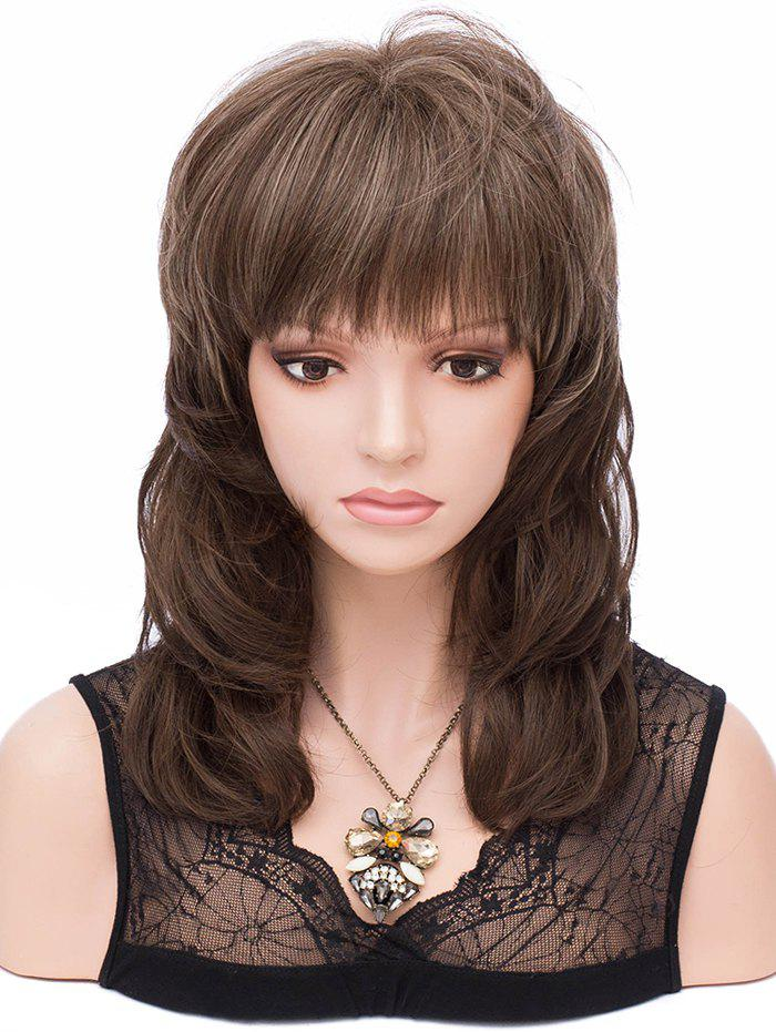 Buy Medium Full Bang Layer Colormix Straight Synthetic Wig