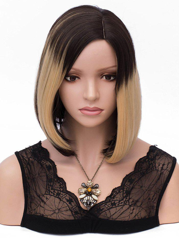 Buy Short Colormix Side Parting Capless Straight Bob Synthetic Wig