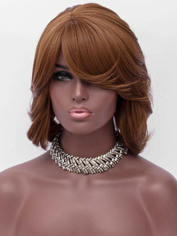 Discount Inclined Bang Short Asymmetric Wavy Synthetic Wig