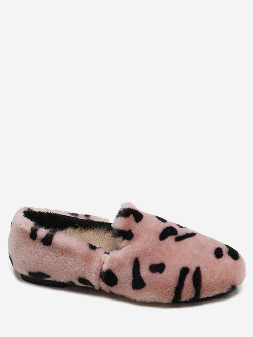 Buy Leopard Print Fluffy Slip On Shoes