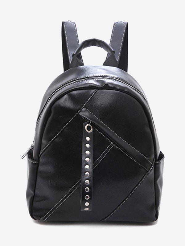 Outfits Large Capacity Rivet Zipper Backpack
