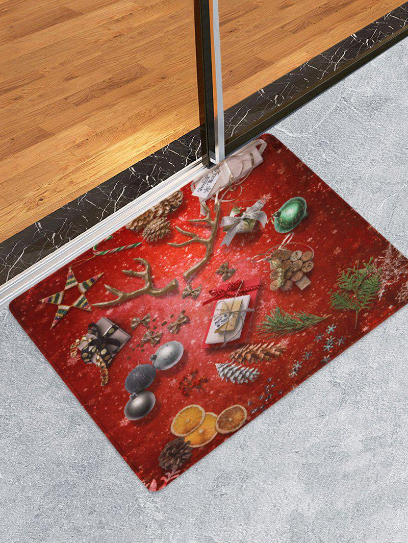 Sale Christmas Deer Horn Printed Floor Mat