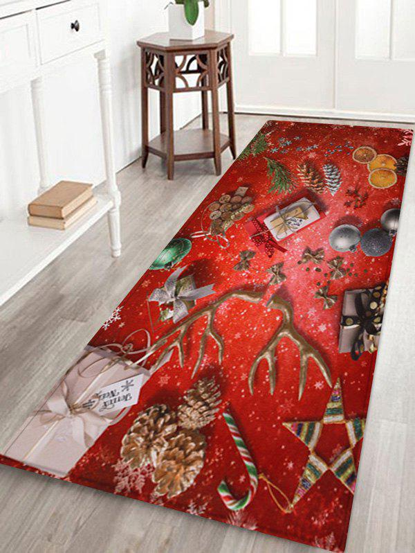 Latest Christmas Deer Horn Printed Floor Mat