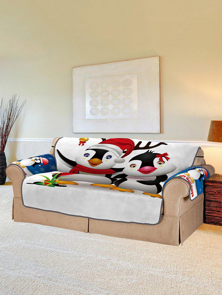 Christmas Penguin Pattern Couch Cover