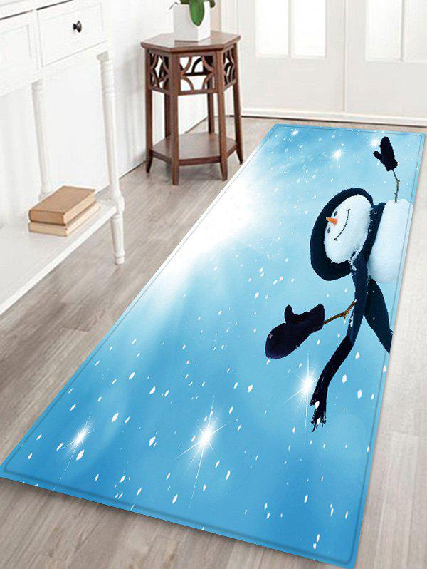 Unique Sunlight Christmas Snowman Pattern Water Absorption Area Rug