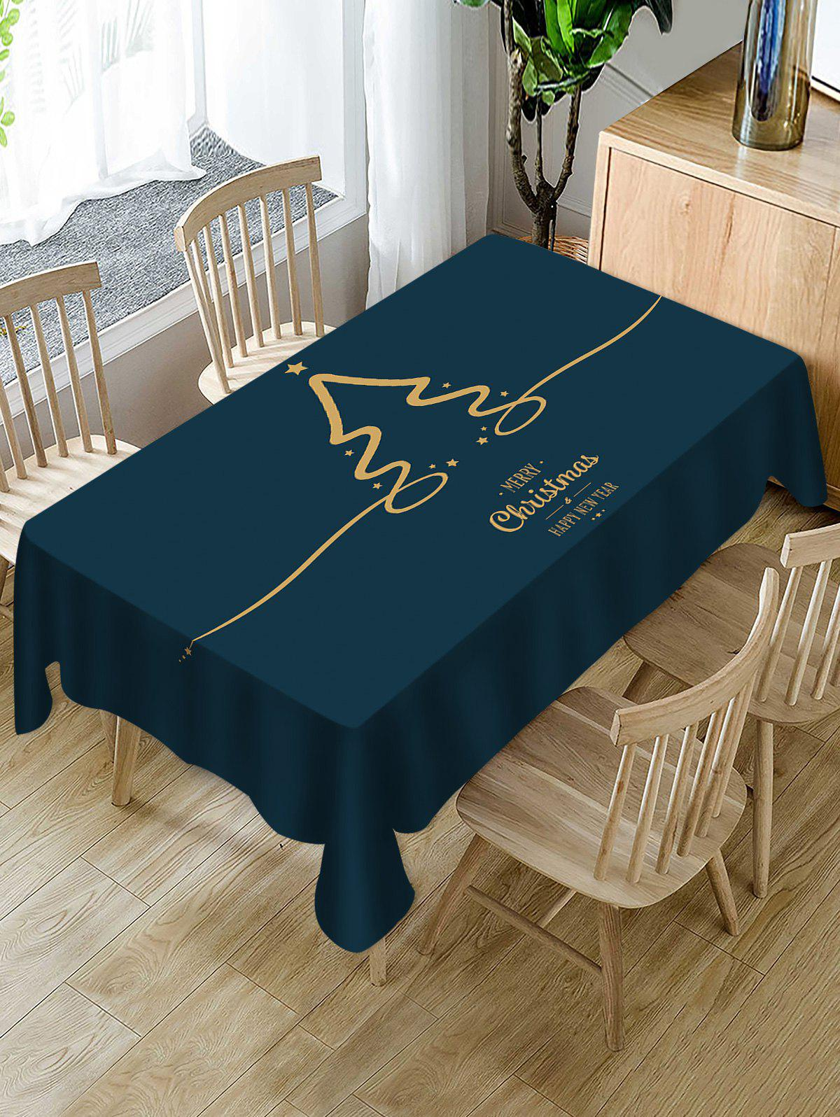 Cheap Christmas Letters Printed Table Cloth
