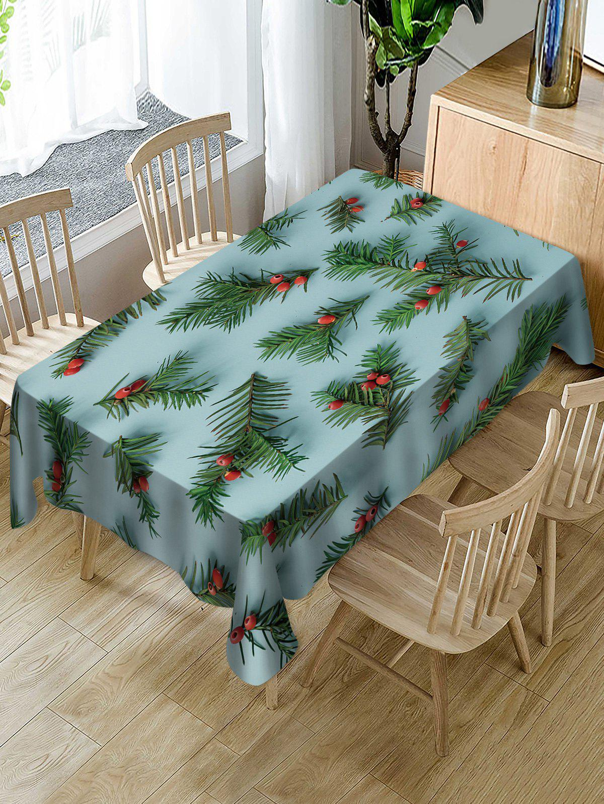 Trendy Yew Fruit Printed Christmas Table Cloth