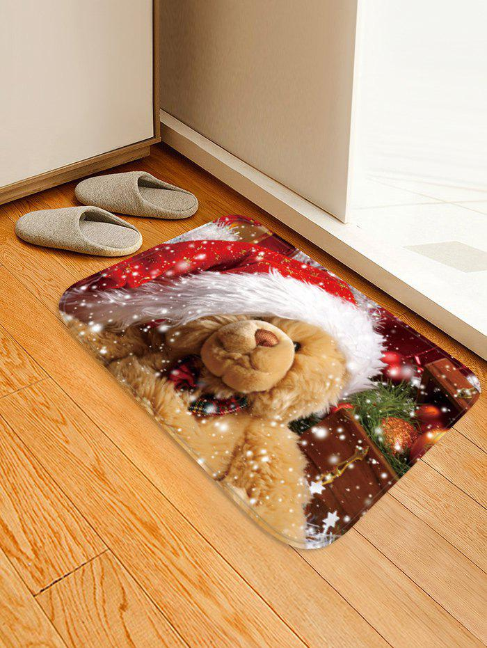 Buy Christmas Bear Pattern Water Absorption Area Rug