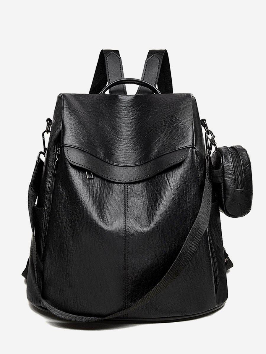 Outfit 2Pcs Large Capacity Letter Design Backpack