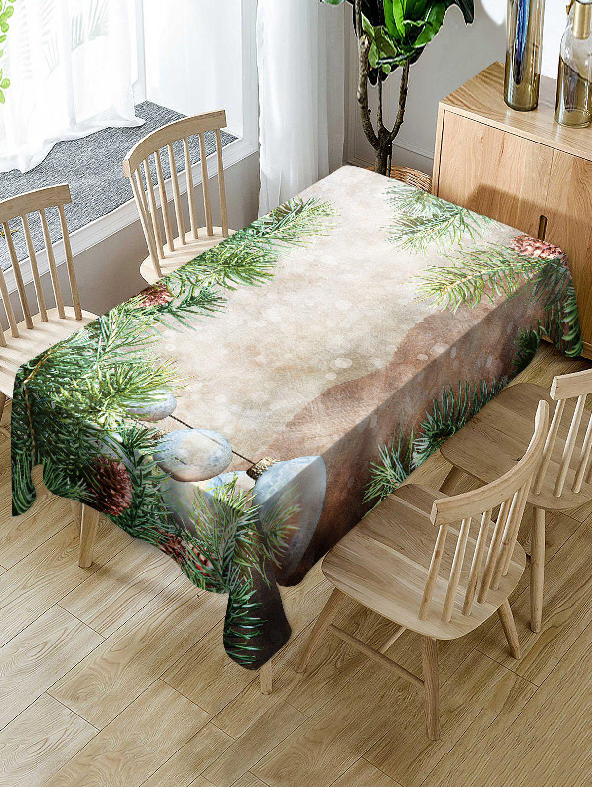 Shop Christmas Tree Baubles Printed Table Cloth