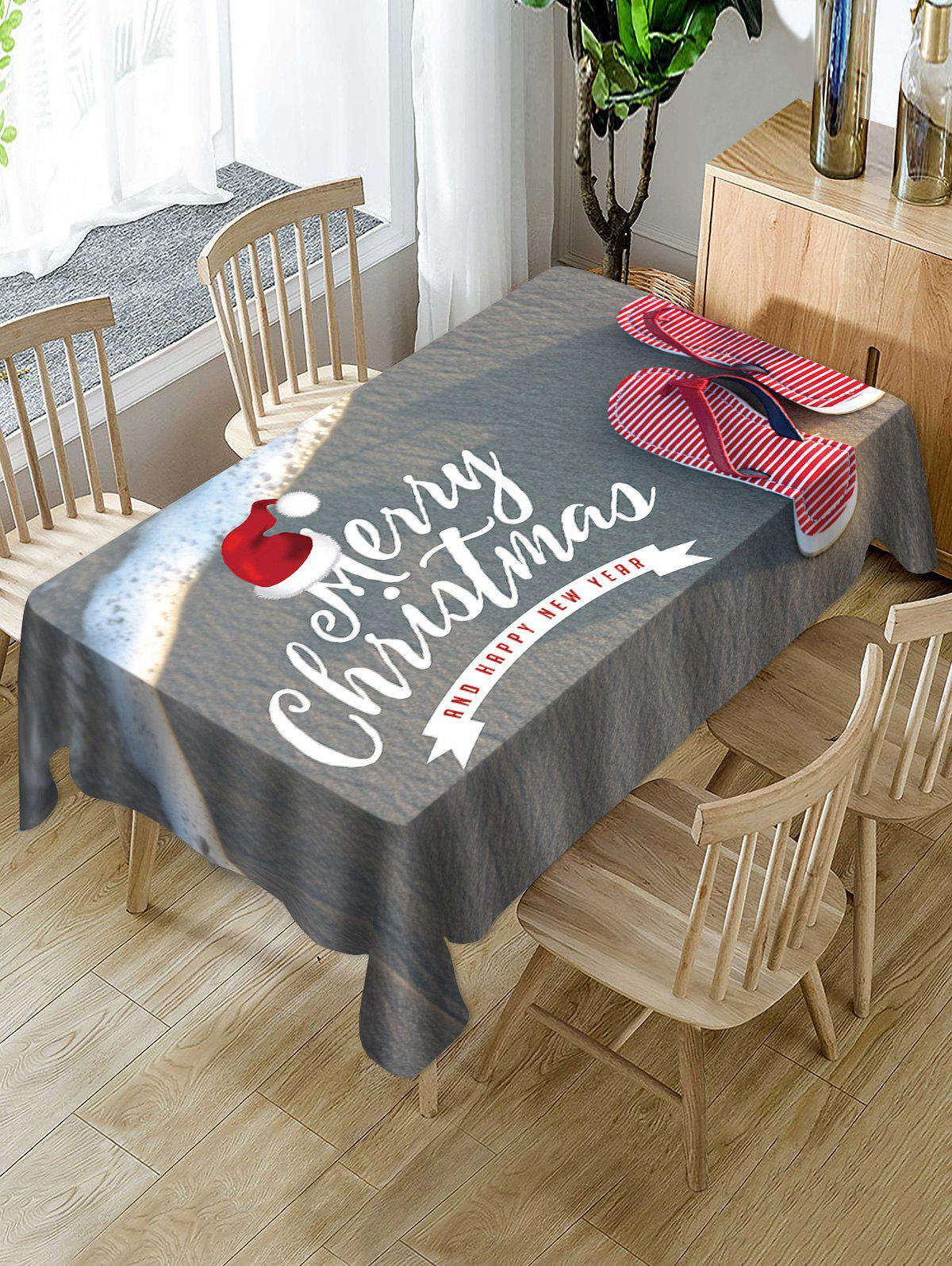 Online Christmas Cap Beach Slippers Print Table Cloth
