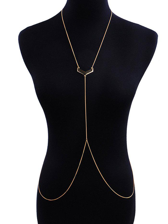 Store V-shape Geometric Shape Beach Body Chain