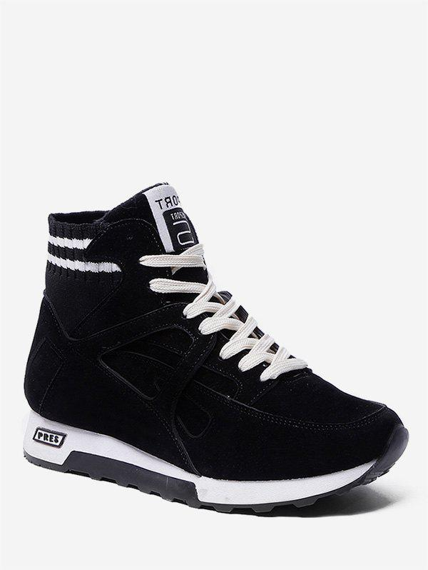 Fancy Striped Suede High Top Sneakers