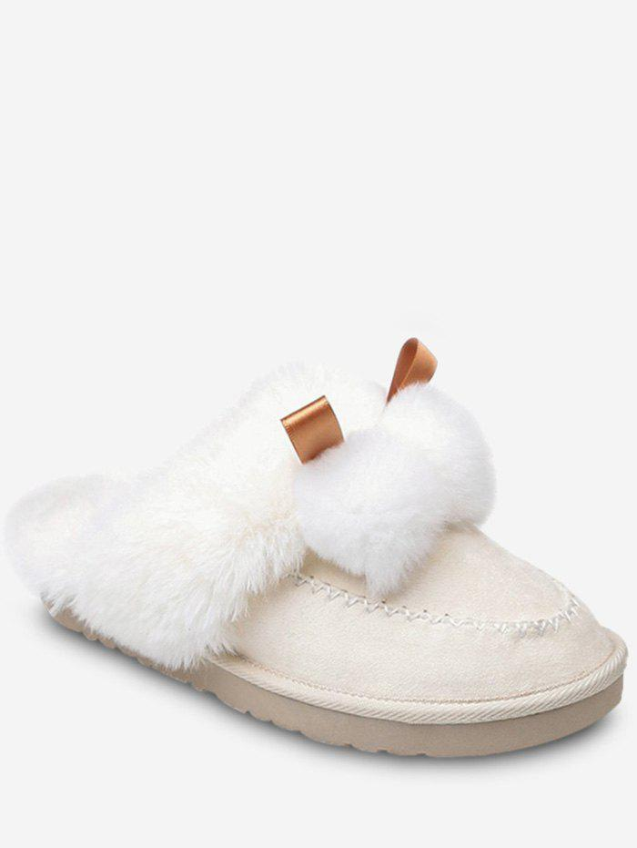 Outfits Fuzzy Ball Suede Faux Fur Slippers