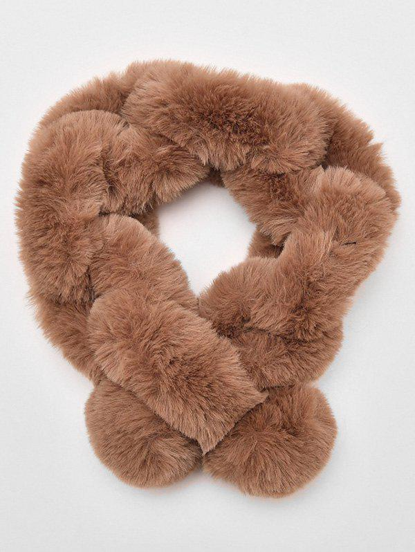 Chic Solid Color Faux Fur Winter Scarf